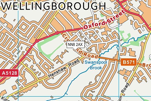 Croyland Nursery School & Day Nursery map (NN8 2AX) - OS VectorMap District (Ordnance Survey)