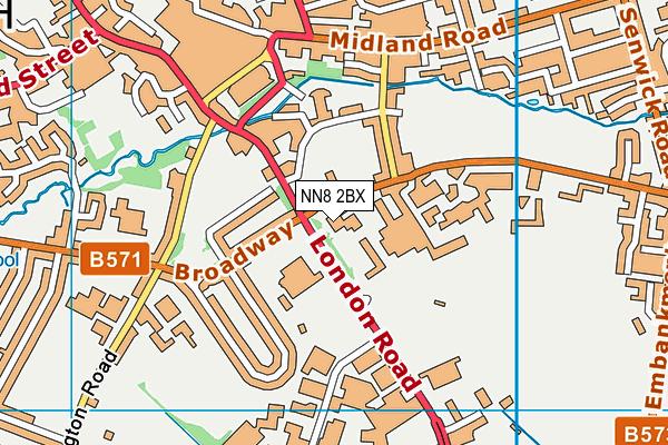Wellingborough School map (NN8 2BX) - OS VectorMap District (Ordnance Survey)