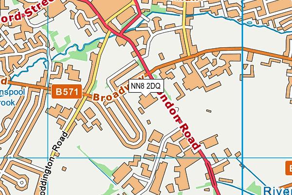 Wrenn School map (NN8 2DQ) - OS VectorMap District (Ordnance Survey)