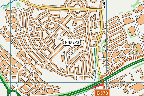 Warwick Academy map (NN8 2PS) - OS VectorMap District (Ordnance Survey)