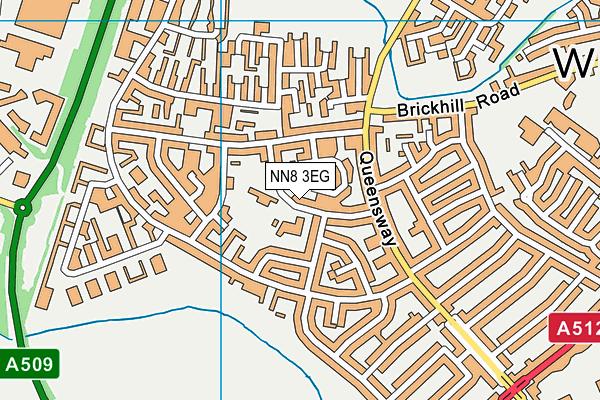 Ruskin Academy map (NN8 3EG) - OS VectorMap District (Ordnance Survey)