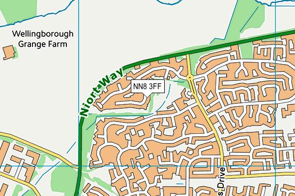 NN8 3FF map - OS VectorMap District (Ordnance Survey)