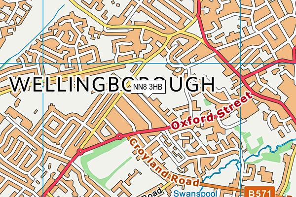St Barnabas Church of England School map (NN8 3HB) - OS VectorMap District (Ordnance Survey)
