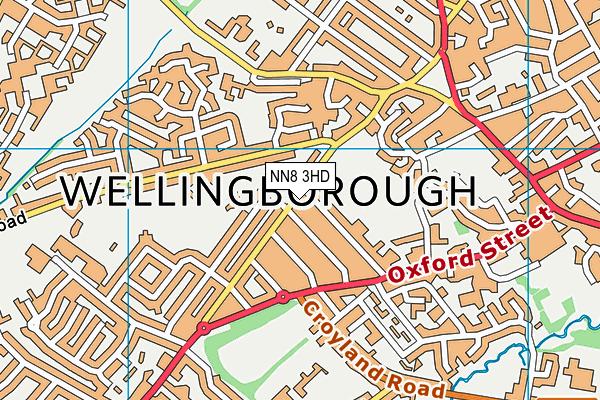 Freemans Endowed Church of England Junior Academy map (NN8 3HD) - OS VectorMap District (Ordnance Survey)