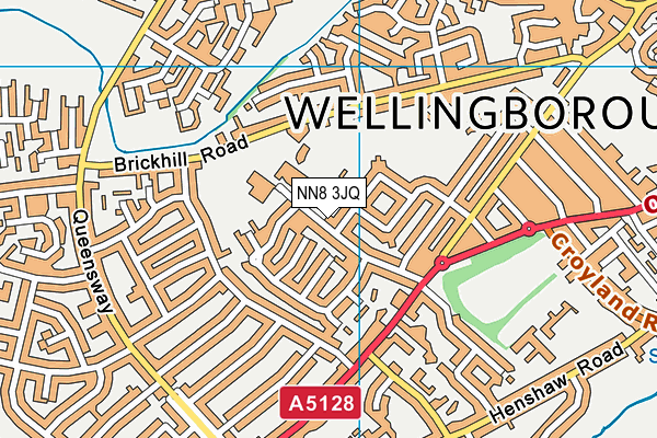 Weavers Leisure Centre map (NN8 3JQ) - OS VectorMap District (Ordnance Survey)