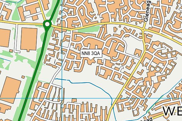Olympic Primary map (NN8 3QA) - OS VectorMap District (Ordnance Survey)