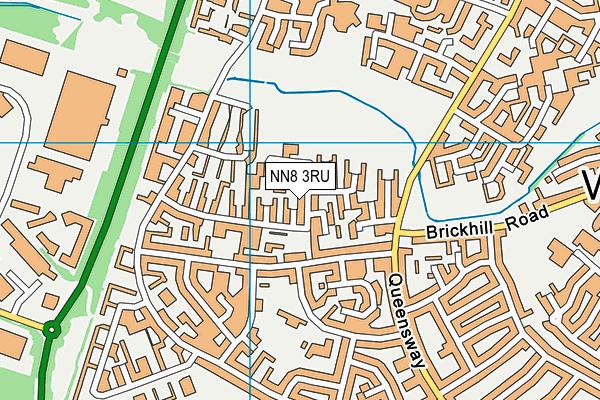 Glamis Hall map (NN8 3RU) - OS VectorMap District (Ordnance Survey)