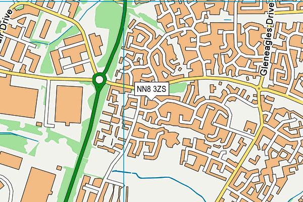 NN8 3ZS map - OS VectorMap District (Ordnance Survey)