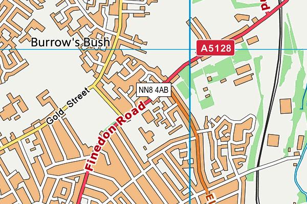 Highfield Nursery School map (NN8 4AB) - OS VectorMap District (Ordnance Survey)