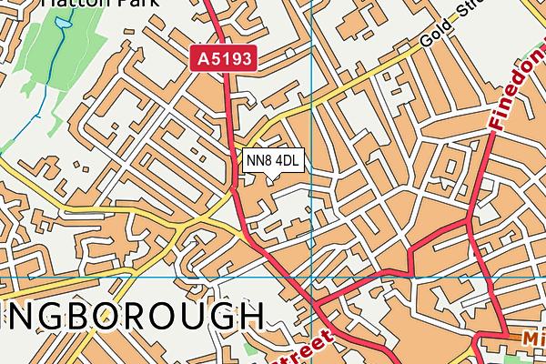 NN8 4DL map - OS VectorMap District (Ordnance Survey)