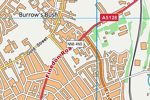 Rowan Gate Primary School -Two Sites map (NN8 4NS) - OS VectorMap District (Ordnance Survey)