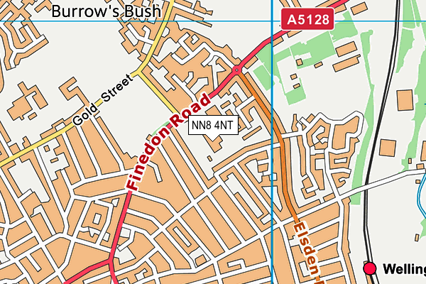 Victoria Primary Academy map (NN8 4NT) - OS VectorMap District (Ordnance Survey)