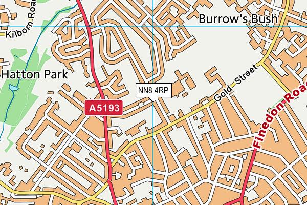 NN8 4RP map - OS VectorMap District (Ordnance Survey)