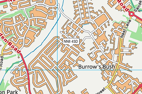 Oakway Academy map (NN8 4SD) - OS VectorMap District (Ordnance Survey)