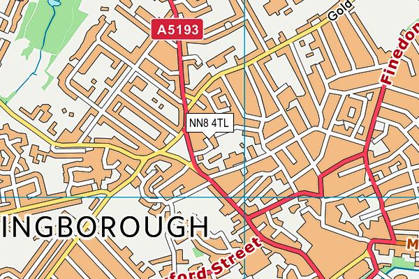NN8 4TL map - OS VectorMap District (Ordnance Survey)