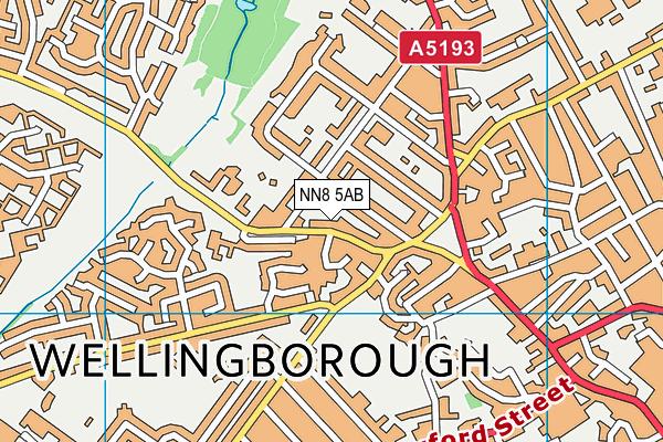 NN8 5AB map - OS VectorMap District (Ordnance Survey)