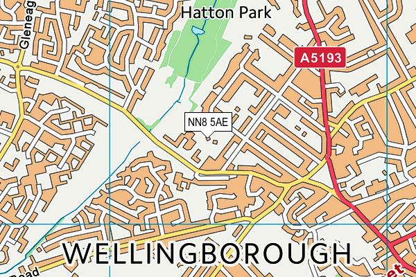 NN8 5AE map - OS VectorMap District (Ordnance Survey)