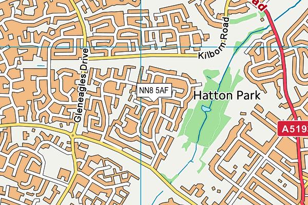NN8 5AF map - OS VectorMap District (Ordnance Survey)