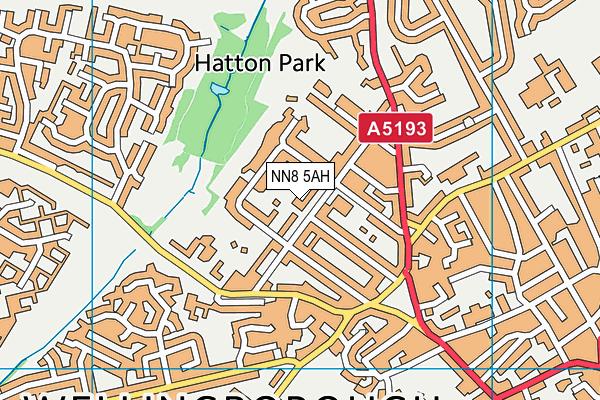 NN8 5AH map - OS VectorMap District (Ordnance Survey)