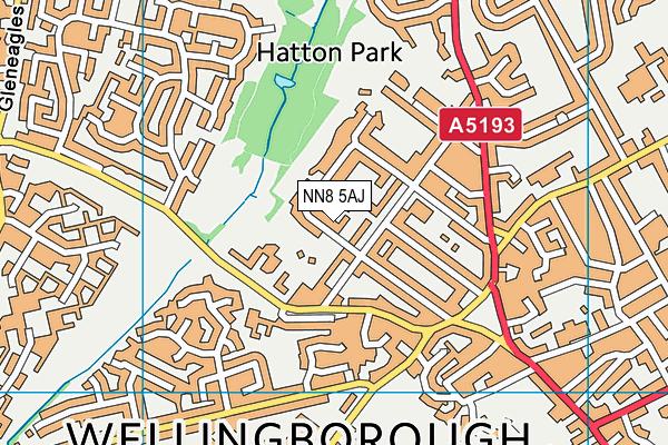 NN8 5AJ map - OS VectorMap District (Ordnance Survey)