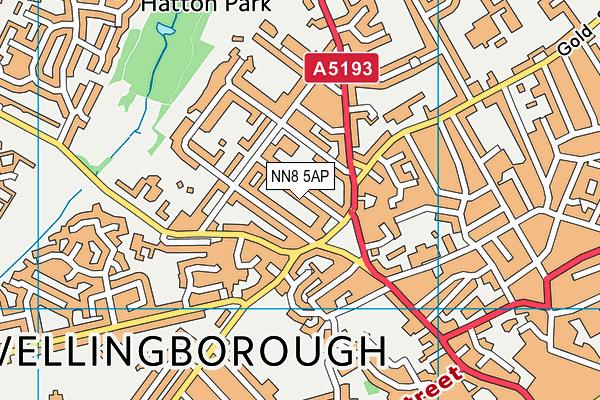 NN8 5AP map - OS VectorMap District (Ordnance Survey)