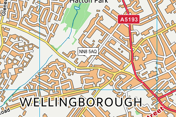 NN8 5AQ map - OS VectorMap District (Ordnance Survey)