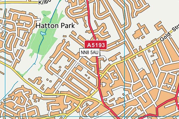 NN8 5AU map - OS VectorMap District (Ordnance Survey)