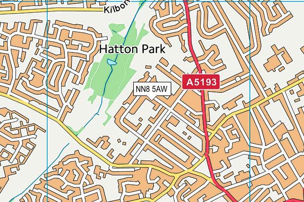 NN8 5AW map - OS VectorMap District (Ordnance Survey)