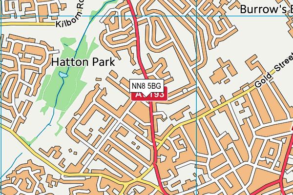 NN8 5BG map - OS VectorMap District (Ordnance Survey)