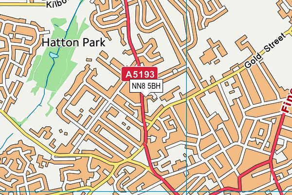 NN8 5BH map - OS VectorMap District (Ordnance Survey)