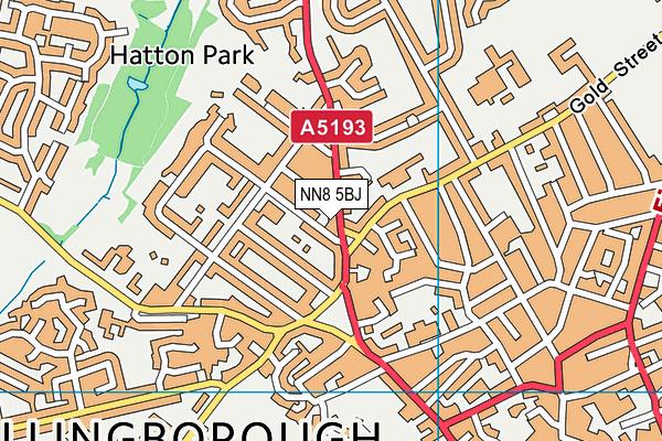 NN8 5BJ map - OS VectorMap District (Ordnance Survey)