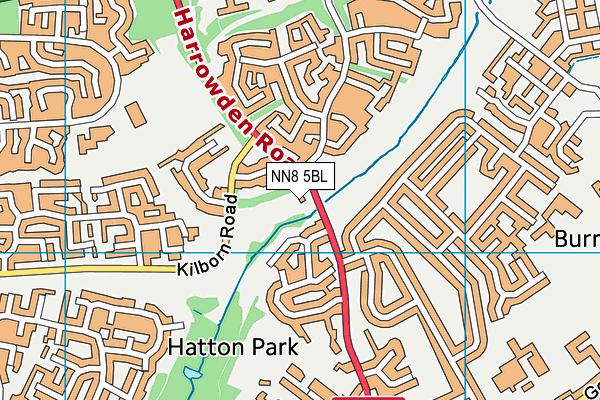 NN8 5BL map - OS VectorMap District (Ordnance Survey)