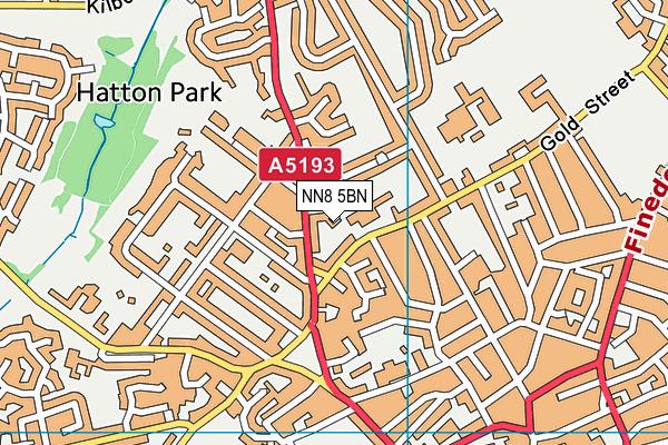 NN8 5BN map - OS VectorMap District (Ordnance Survey)
