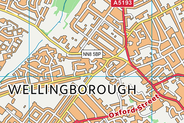 NN8 5BP map - OS VectorMap District (Ordnance Survey)