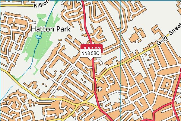 NN8 5BQ map - OS VectorMap District (Ordnance Survey)