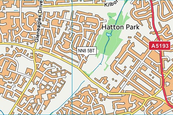 NN8 5BT map - OS VectorMap District (Ordnance Survey)