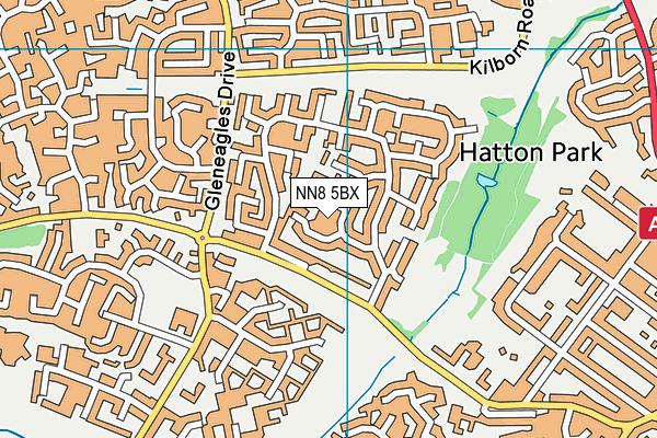 NN8 5BX map - OS VectorMap District (Ordnance Survey)
