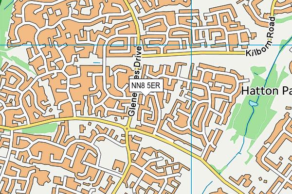NN8 5ER map - OS VectorMap District (Ordnance Survey)