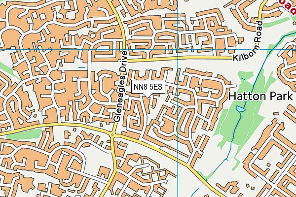 NN8 5ES map - OS VectorMap District (Ordnance Survey)