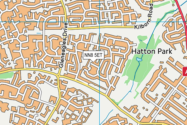 NN8 5ET map - OS VectorMap District (Ordnance Survey)