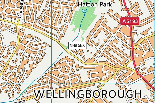 NN8 5EX map - OS VectorMap District (Ordnance Survey)