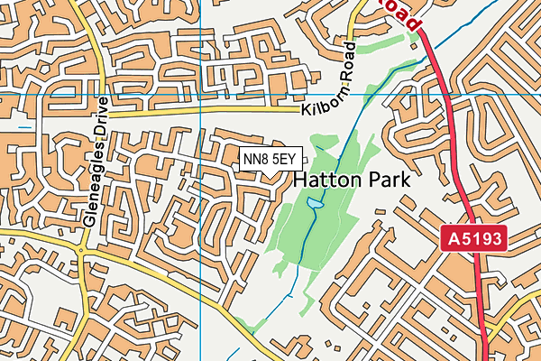 NN8 5EY map - OS VectorMap District (Ordnance Survey)