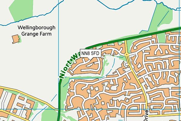 NN8 5FD map - OS VectorMap District (Ordnance Survey)
