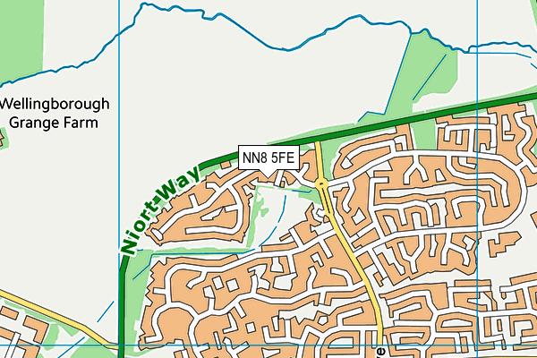 NN8 5FE map - OS VectorMap District (Ordnance Survey)