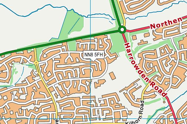 NN8 5FH map - OS VectorMap District (Ordnance Survey)