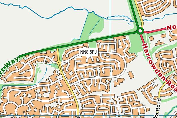 NN8 5FJ map - OS VectorMap District (Ordnance Survey)