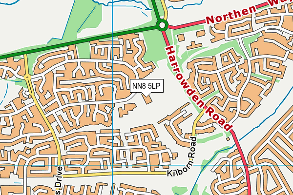NN8 5LP map - OS VectorMap District (Ordnance Survey)