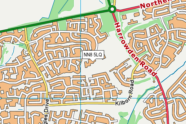 Redwell Primary School map (NN8 5LQ) - OS VectorMap District (Ordnance Survey)