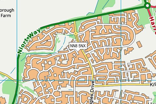 NN8 5NX map - OS VectorMap District (Ordnance Survey)