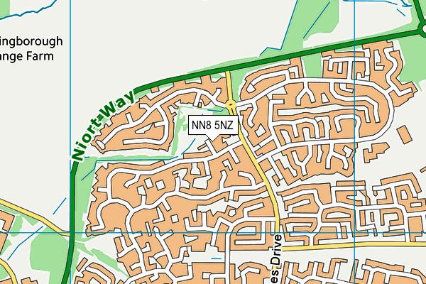 NN8 5NZ map - OS VectorMap District (Ordnance Survey)